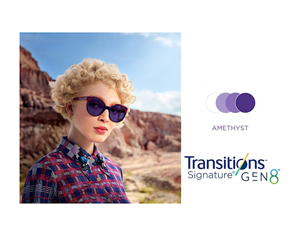 Tròng Kính Essilor Crizal Transitions Signature Gen8 Amethyst