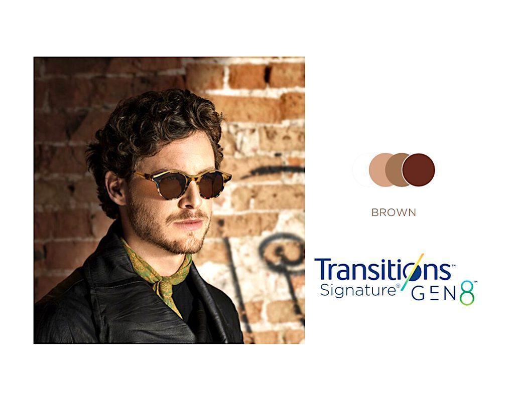 Tròng Kính Essilor Crizal Transitions Signature Gen8 Brown