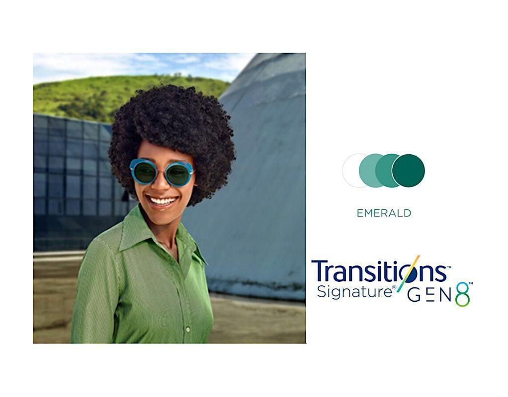 Tròng Kính Essilor Crizal Transitions Signature Gen8 Emerald