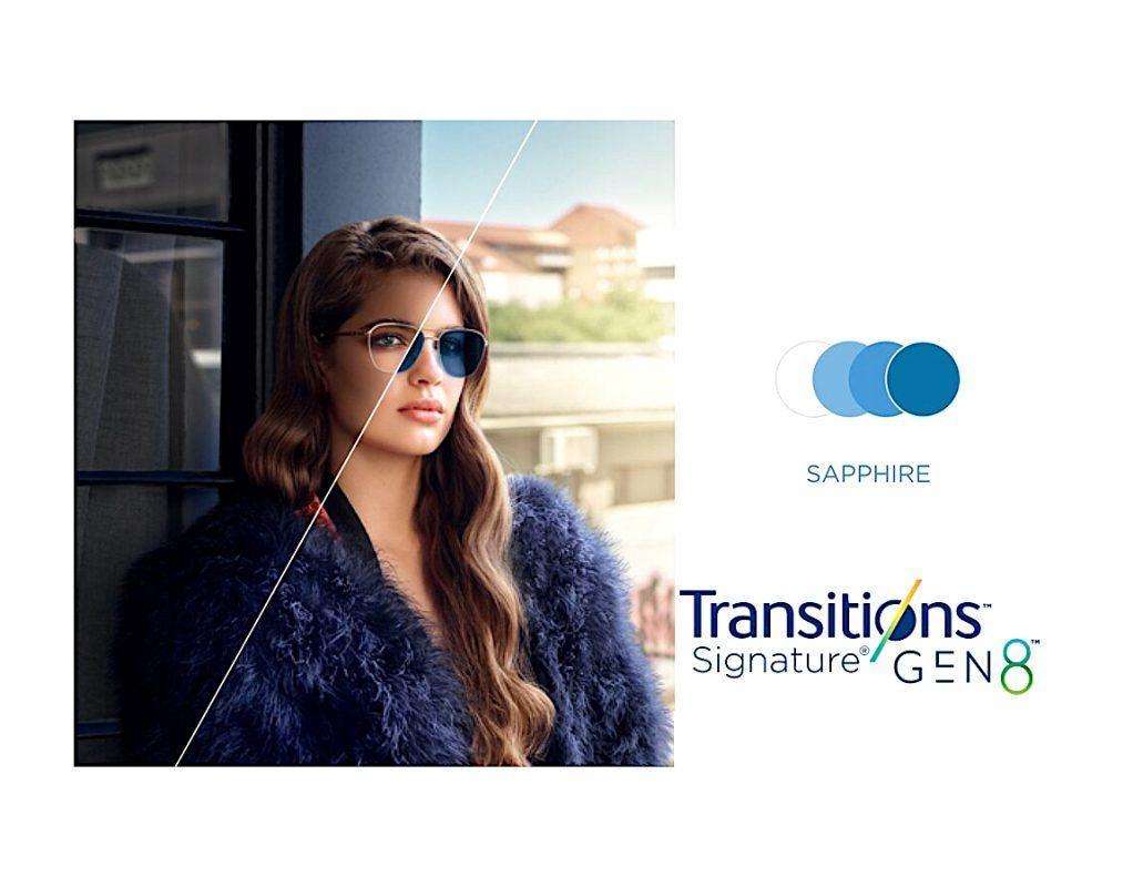 Tròng Kính Essilor Crizal Transitions Signature Gen8 Sapphire