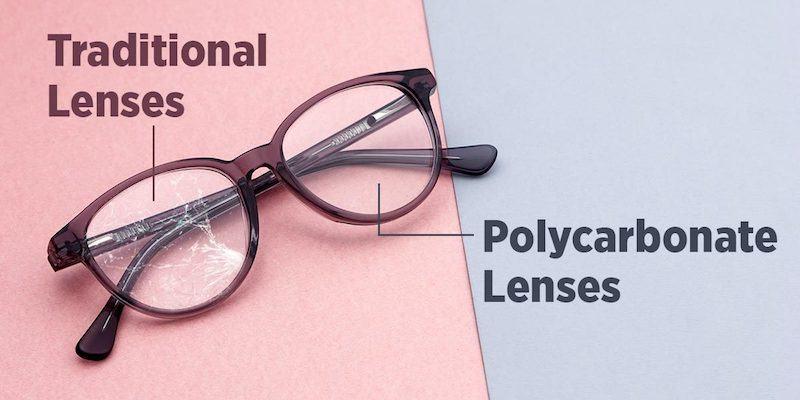 Tròng kính polycacbonat va tròng kính truyền thống